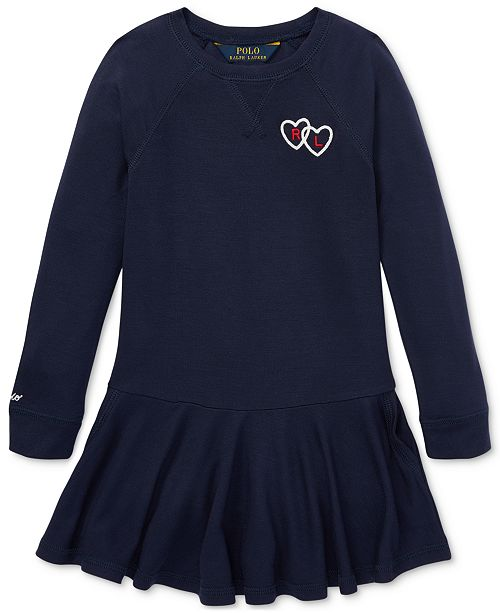 f339ceb7f0eb9 Polo Ralph Lauren Little Girls French Terry Dress - Dresses - Kids ...