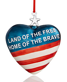 Holiday Lane Patriotic Hearts Ornament, Created for Macy's