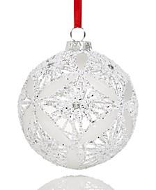 Shine Bright Clear Glitter Ball Ornament Created For Macy's