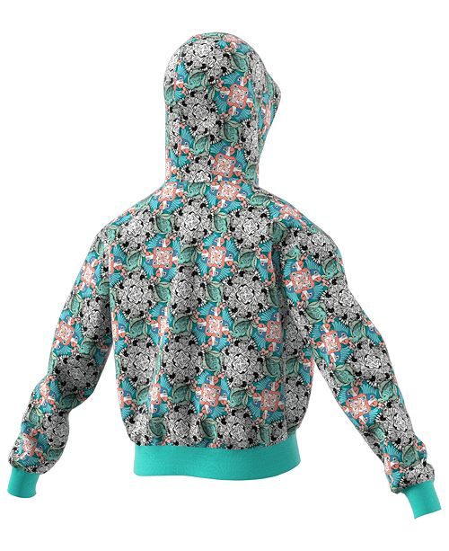 536ad06b1 adidas Big Girls Cropped Zoo-Print Hoodie & Reviews - Sweaters ...