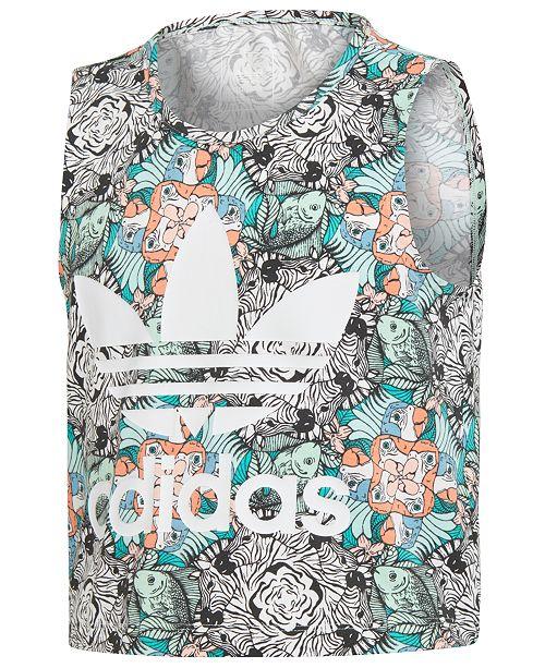 97cccba1d1dd9 adidas Big Girls Zoo-Print Tank Top & Reviews - Shirts & Tees - Kids ...
