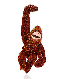 Holiday Lane Orangutan with Gold Glitter Ornament, Created for Macy's
