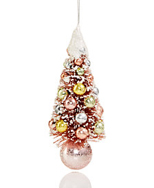 Holiday Lane Pink Tree Ornament With Multicolor Balls, Created for Macy's