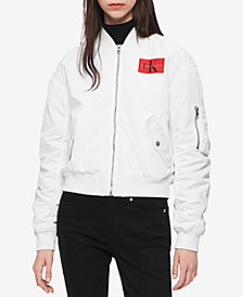 Calvin Klein Jeans Juniors' Logo-Patch Bomber Jacket