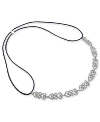 I.N.C. Silver-Tone Pavé Openwork Headband, Created for Macy's