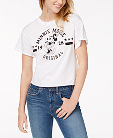 Modern Lux Juniors' Minnie Mouse Varsity Graphic T-Shirt