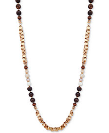 "lonna & lilly Gold-Tone Beaded 36"" Strand Necklace"