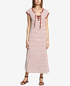 Sanctuary Cotton Striped Maxi Dress