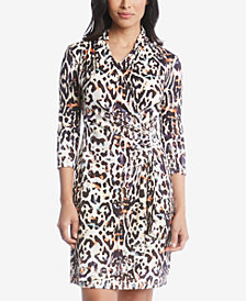 Karen Kane Cascade Printed Wrap Dress