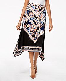 JM Collection Handkerchief-Hem Maxi Skirt, Created for Macy's
