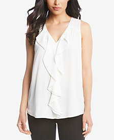 Karen Kane Waterfall-Ruffle Top