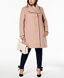 Kenneth Cole Plus Size Textured Coat