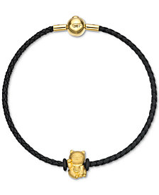 Chow Tai Fook Cat Braided Bracelet in 24k Gold