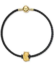 Chow Tai Fook Cat Braided Bracelet in 24k Gold