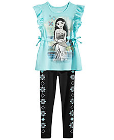Disney Little Girls 2-Pc. Moana Top & Leggings Set