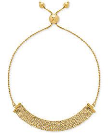Multi-Bead Bolo Bracelet in 10k Gold