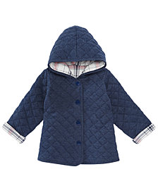 First Impressions Baby Girls Quilted Plaid Reversible Jacket, Created for Macy's