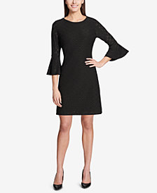 Tommy Hilfiger Bell-Sleeve A-Line Dress