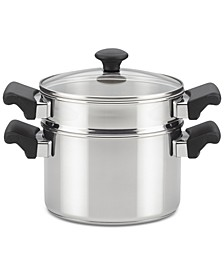 Classic Traditions Stainless Steel Stack 'N' Steam 3-Qt. Saucepot & Steamer
