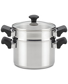 Farberware Classic Traditions Stainless Steel Stack 'N' Steam 3-Qt. Saucepot & Steamer