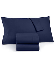 Martha Stewart Collection 100% Cotton Flannel Pair of Standard Pillowcases, Created for Macy's