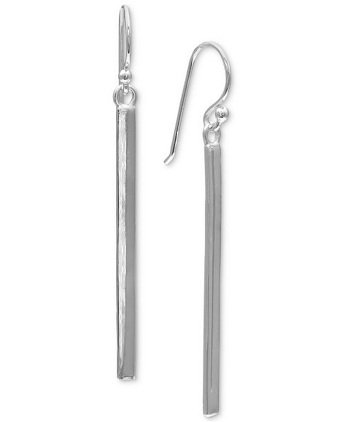 Giani Bernini Solid Bar Linear Drop Earrings in Sterling Silver, Created for Macy's