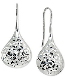 Textured Teardrop Drop Earrings in Sterling Silver, Created for Macy's