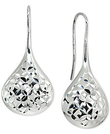 Giani Bernini Textured Teardrop Drop Earrings in Sterling Silver, Created for Macy's