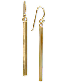 Giani Bernini Polished Bar Drop Earrings in 18k Gold-Plated Sterling Silver, Created for Macy's