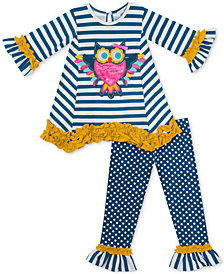 Rare Editions Baby Girls 2-Pc. Owl Tunic & Leggings Set
