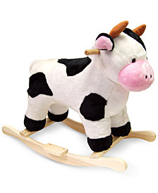 Trademark Global Happy Trails Cow Plush Rocking Animal