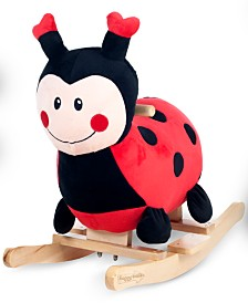 "Trademark Global Happy Trails Lucy the Ladybug Rocking Animal, 21.5"" x 23"" x 12.5"""