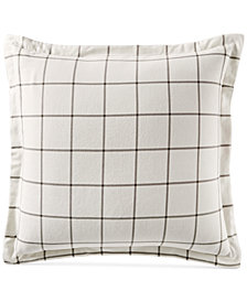 Martha Stewart Collection Bayberry Cotton Flannel European Sham, Created for Macy's