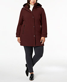 Calvin Klein Plus Size Hooded  Softshell Raincoat