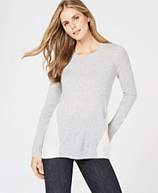 Charter Club Colorblock Cashmere Sweater in Regular & Petite Sizes, Created for Macy's