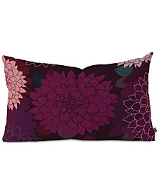 Deny Designs Iveta Abolina Burgundy Rose Oblong Throw Pillow