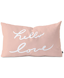 Deny Designs Lisa Argyropoulos Hello Love Warm Blush Oblong Throw Pillow
