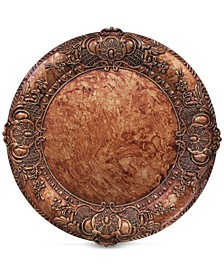 Jay Import Copper Embossed Charger Plate