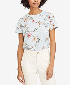 Lauren Ralph Lauren Petite Floral-Print Cotton Top