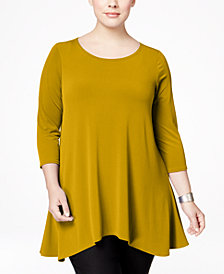 Alfani Plus Size Swing Top, Created for Macy's