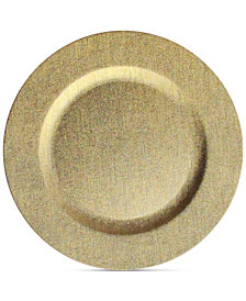 Jay Imports American Atelier Leather-Finish Gold Charger Plate
