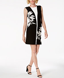 Taylor Split Floral Print Sheath Dress