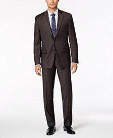 Lauren Ralph Lauren Men's Classic-Fit Ultra Flex Stretch Brown Sharkskin Suit
