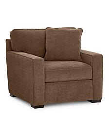 """Radley 38"""" Fabric Armchair - Custom Colors, Created for Macy's"""
