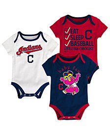 Outerstuff Cleveland Indians Play Ball 3-Piece Set, Infants (0-9 Months)