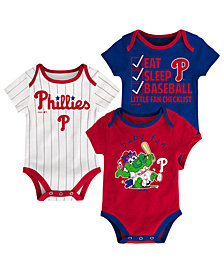 Outerstuff Philadelphia Phillies Play Ball 3-Piece Set, Infants (0-9 Months)