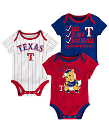 Outerstuff Texas Rangers Play Ball 3-Piece Set, Infants (0-9 Months)