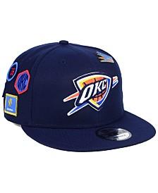 New Era Oklahoma City Thunder On-Court Collection 9FIFTY Snapback Cap