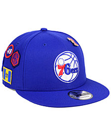 New Era Philadelphia 76ers On-Court Collection 9FIFTY Snapback Cap