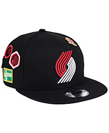 New Era Portland Trail Blazers On-Court Collection 9FIFTY Snapback Cap